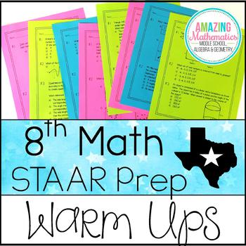 8th Grade Math STAAR Review & Prep - Warm Ups by Amazing Mathematics