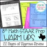 8th Grade Math STAAR Review & Prep - Warm Ups