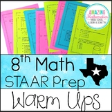 8th Grade Math STAAR Review & Prep - Warm Ups