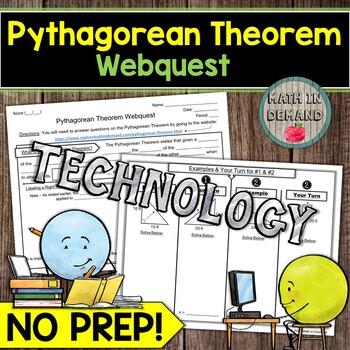 8th Grade Math Webquests Bundle