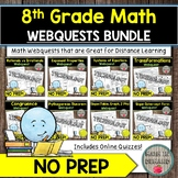 8th Grade Math Webquests Bundle DISTANCE LEARNING