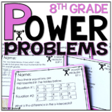 8th Grade Math Word Problems   Test Prep YEARLONG BUNDLE   SPIRAL REVIEW