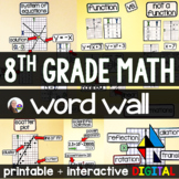 8th Grade Math Word Wall