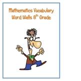 8th Grade Math Word Walls