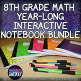 8th Grade Math Year Long Interactive Notebook Bundle