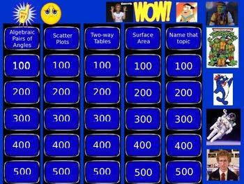 8th Grade Mathematics Jeopardy Round 3