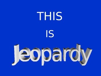 8th Grade Mathematics Jeopardy Round 3
