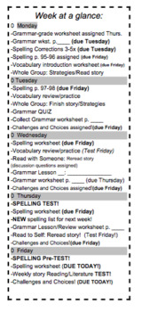 """8th Grade McDougal Littell """"Stop the Sun"""" Challenges&Choices/Week at a Glance"""