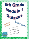 8th Grade Module 1 Quizzes for Topics A and B - Editable