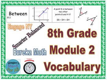 8th Grade Module 2 Vocabulary - SBAC - Editable