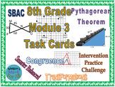 8th Grade Module 3 Task Cards - Editable - SBAC