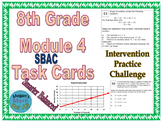 8th Grade Module 4 Task Cards - Equations and Expressions - SBAC - Editable