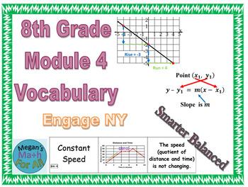 8th Grade Module 4 Vocabulary - SBAC - Editable