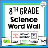 8th Grade NC Science Essential Standards Word Wall Cards: 165 Words!