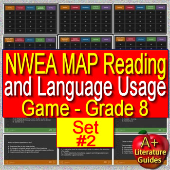 8th Grade NWEA MAP Test Prep Reading and Language Usage Skills Game #2