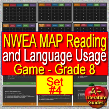 8th Grade NWEA MAP Test Prep Reading and Language Usage Skills Game #4