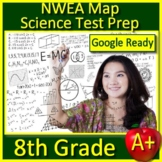 8th Grade NWEA Map Science Test Prep Self-Grading Test, Game, & Task Cards NGSS