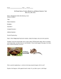 8th Grade Natural Selection and Evolution Test (MS-LS3-1, MS-LS4-4)