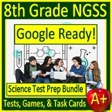 8th Grade Science TEST PREP BUNDLE Printable & Google Ready Review NGSS