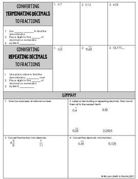 8th Grade Number System Bundle Go Math
