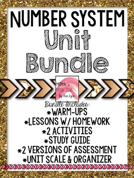 8th Grade Number System Mega-Bundle w/Activities Go Math