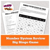 """8th Grade Number System Review: """"Big Bingo"""" Review Game"""