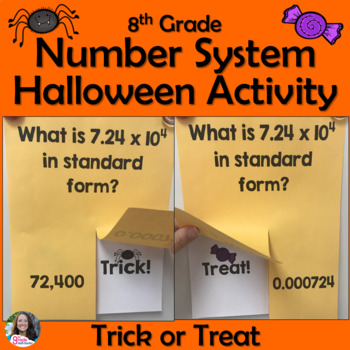 8th Grade Number Systems Review Trick or Treat Halloween Activity
