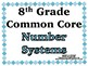 Number Systems Word Wall with Example - 8th Grade