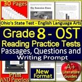 8th Grade Ohio AIR Test Prep Practice Tests for Reading ELA - Bundle