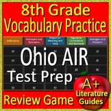 8th Grade Ohio AIR Test Prep Reading Vocabulary Practice Review Game