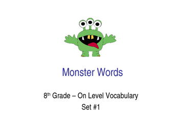 8th Grade On-Level Dolch Words – Set #1 - Special Education Resource ELA