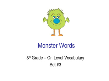 8th Grade On-Level Dolch Words – Set #3 - Special Educatio