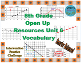8th Grade Open Up Resources Math Unit 6 Vocabulary Cards - Editable - SBAC