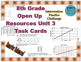 8th Grade Open Up Resources Unit 3 Task Cards - Editable - SBAC