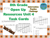 8th Grade Open Up Resources Unit 4 Math Task Cards - Editable - SBAC
