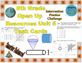 8th Grade Open Up Resources Unit 5 Math Task Cards - Editable - SBAC