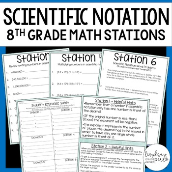 Scientific Notation : Middle School Math Stations