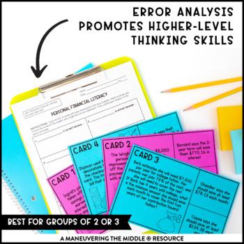 8th Grade Personal Financial Literacy Activity Bundle