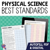 """8th Grade Physical Science """"I Can"""" Student Checklists Florida Standards"""