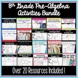 8th Grade Pre-Algebra Activities Bundle