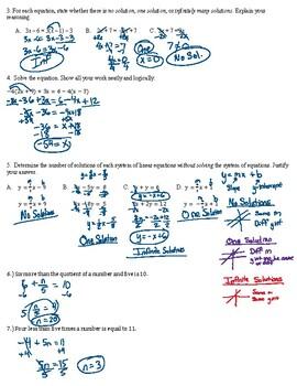 8th Grade Pre-Algebra Q1 Review (Answer Key)