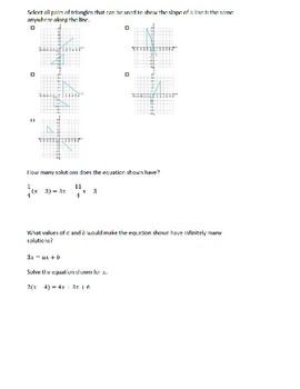 8th Grade Pre-Algebra Q2 Review (Editable)