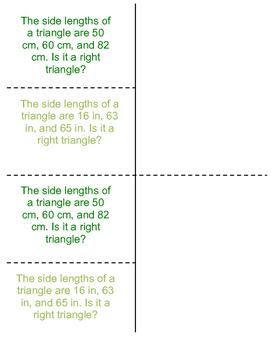 8th Grade Pythagorean Theorem Converse Lesson: FOLDABLE & Homework