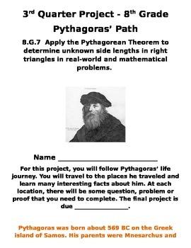 8th Grade Pythagorean Theorem Project