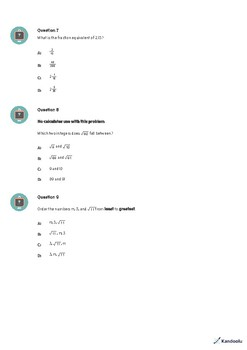 8th Grade Quiz: Rational Numbers