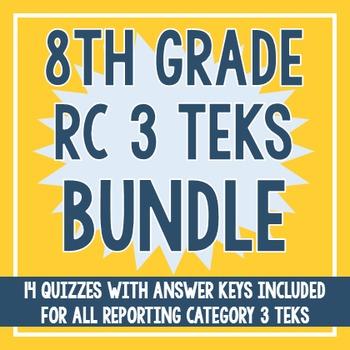 8th Grade RC 3 TEKS BUNDLE! (All RC 3 TEKS)