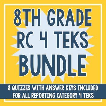8th Grade RC 4 TEKS BUNDLE! (All RC 4 TEKS)