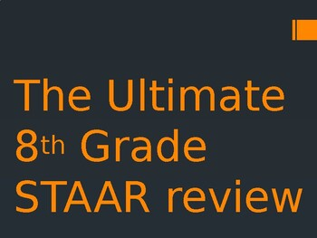 8th Grade READING STAAR Review POWERPOINT