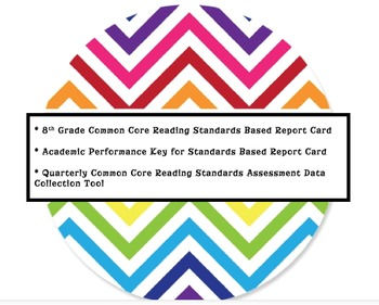 8th Grade Reading Common Core Standards Based Report Card/Tracking Tool