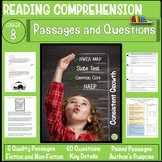 8th Grade Reading Comprehension Passages and Questions
